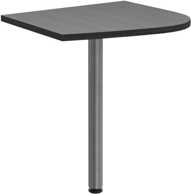 Skyland Offix New OKD 64 Table Extension 58x64x2.5cm Left Dark Wood