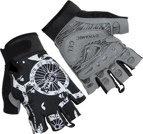 Велосипедные перчатки Ferts FSGLV 063, белый/черный/серый, M