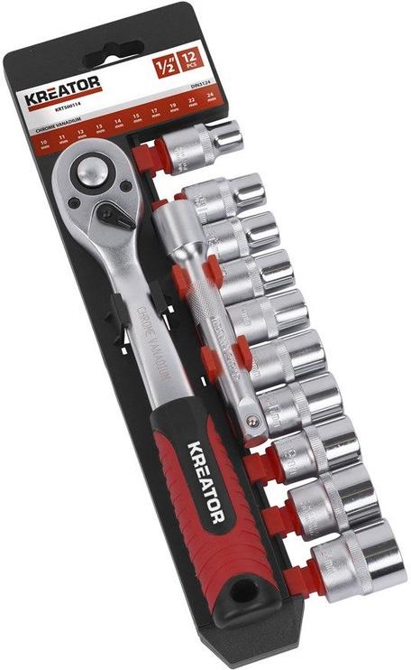"Kreator KRT500114 Socket Set 1/2"" 12pcs"