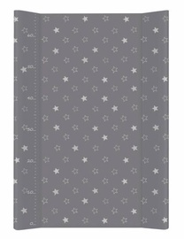 Ceba Baby Hard Changing Mat Short Stars Dark Grey
