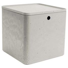 Curver Beton Box Cube w/ Lid XL 18l Grey