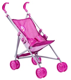 Woodyland Foldable Buggy For Dolls Pink 91507