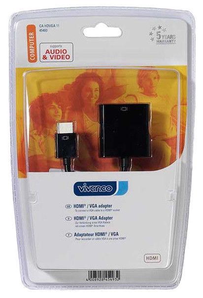 Vivanco HDMI To VGA Adapter Black
