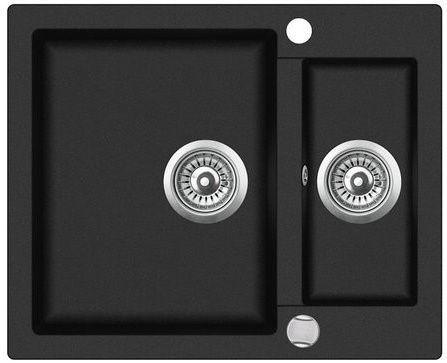 Раковина Teka 60 S-TQ Onyx Black, 610 мм x 495 мм x 200 мм