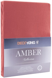 Palags DecoKing Amber, rozā, 90x200 cm, ar gumiju
