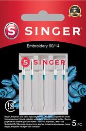 Singer Embroidery Needle 90/14 5pcs
