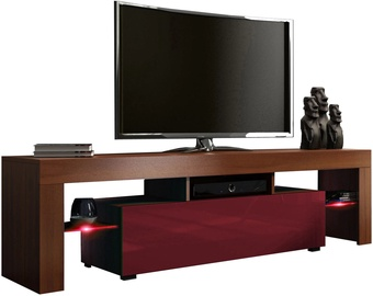 TV-laud Pro Meble Milano 160 With Light Walnut/Red, 1600x350x450 mm