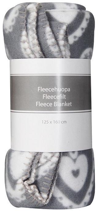 4Living Fleece Blanket 125x160cm Grey