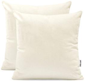 DecoKing Amber Pillowcase 80x80 Cream 2pcs