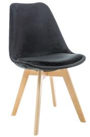 Ēdamistabas krēsls Signal Meble Dior Velvet Buk Black, 1 gab.