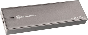 SilverStone MS11C External M.2 PCIe NVMe SSD Housing Charcoal