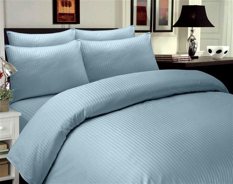 Gultas veļas komplekts Domoletti Stripes Blue, 200x220/50x70 cm
