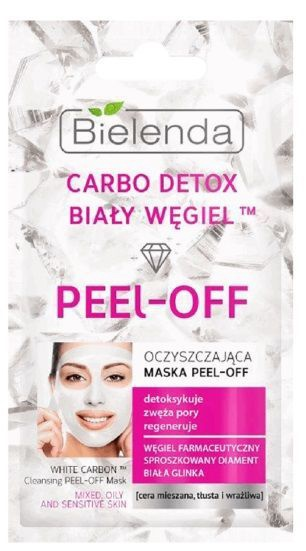 Bielenda Carbo Detox White Carbon Cleansing Peel Off Mask 2 X 5g