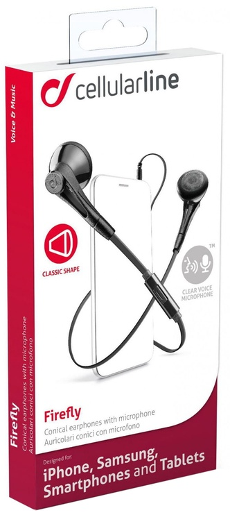 Ausinės Cellular Line Firefly Headset Black