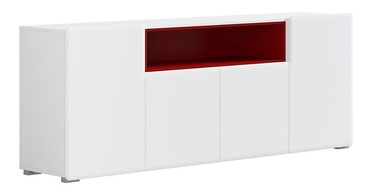 Black Red White Possi Air SFW4D Cupboard White/Red