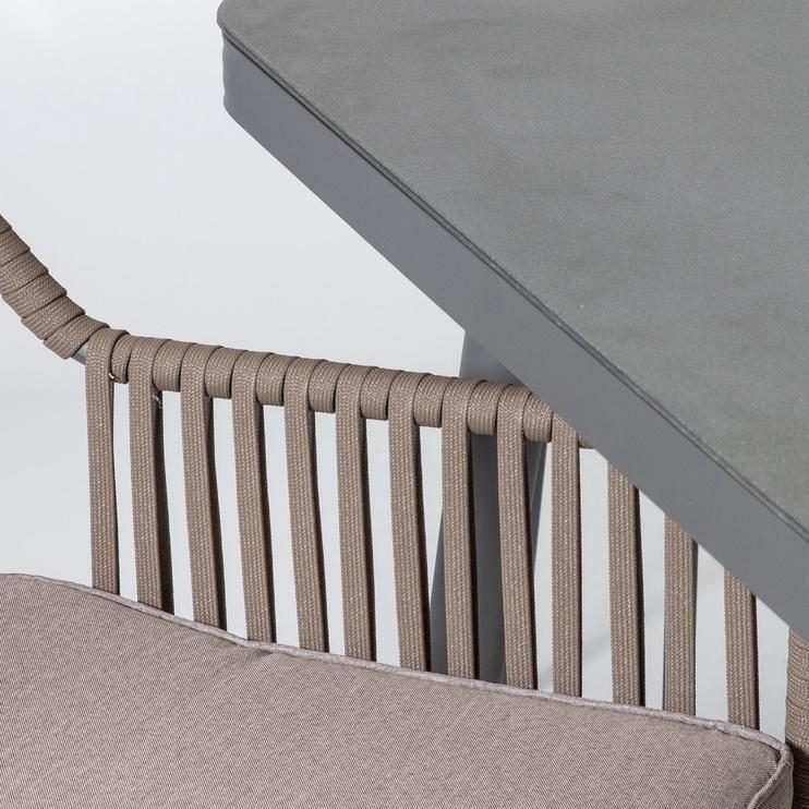 Sodo baldų komplektas Home4you Andros Grey