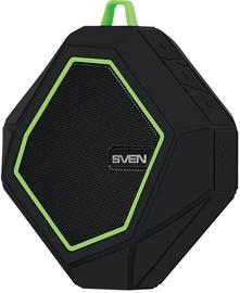 Belaidė kolonėlė Sven PS-77 Black/Green, 5 W