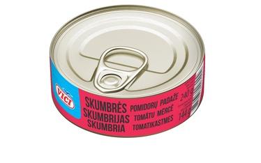 Skumbrė pomidorų padaže Viči, 240 g / 144 g