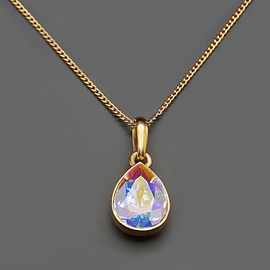 Diamond Sky Pendant Crystal Drop Aurore Boreale With Swarovski Crystals