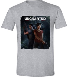 Licenced Uncharted The Lost Legacy Cover T-Shirt Grey XL