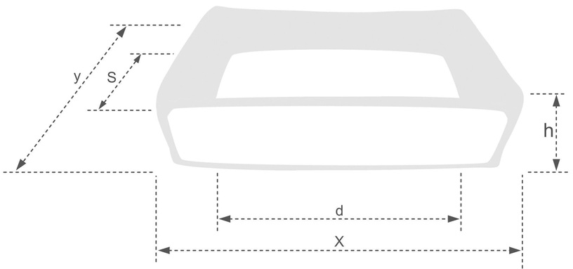 Лежанка Amiplay Palermo Sofa XL 90x72x22cm Dark Gray