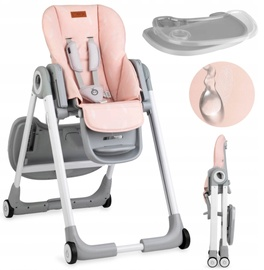 Стульчик для кормления Momi Luxuria, розовый/серый