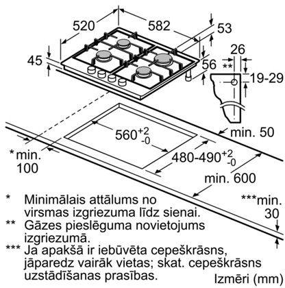 Gāzes plīts Bosch PCP6A5B90