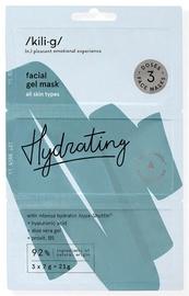 KILIG HYDRATING intensyviai drėkinanti gelinė veido kaukė 3 x 7 g