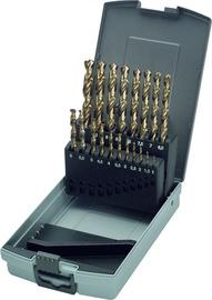 Urbju komplekts metālam Keil DIN 338, 1-10mm, 19gab.