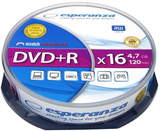Esperanza 1117 DVD+R 16x 4.7GB Cake Box 10DVD's