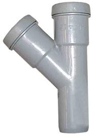 Vidaus kanalizacijos trišakis Wavin, Ø 50 / 50 mm, 45°
