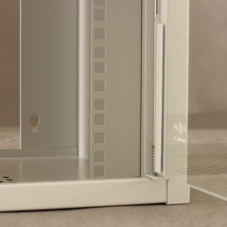 Netrack Wall Cabinet 10'' 9U/300 mm Glass Grey
