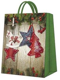 Paw Decor Collection Gift Bag Christmas Stars Small