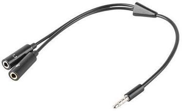 Natec Cable Jack to Jack x2 Black 0.2m