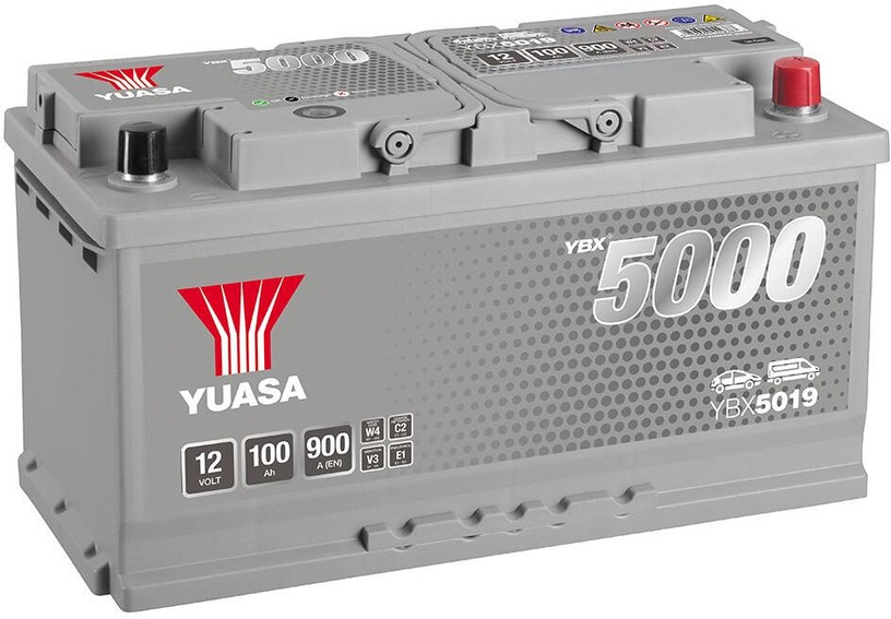 Аккумулятор Yuasa, 12 В, 100 Ач, 900 а