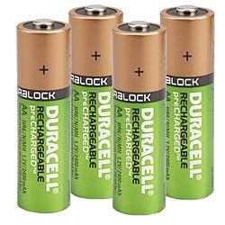 Uzlādējamās baterijas Duracell, AA, 2400 mAh, 4 gab.