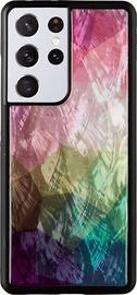 Чехол iKins Water Flower Back Case For Samsung Galaxy S21 Ultra, черный