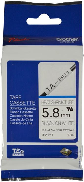 Этикет-лента для принтеров Brother HSe-211, 100 см