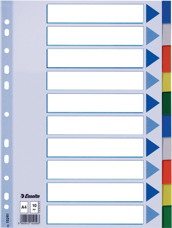 Esselte Document Divider Book 10 Colors