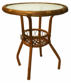 Садовый стол Diana Wicker Brown, 54 x 54 x 53 см