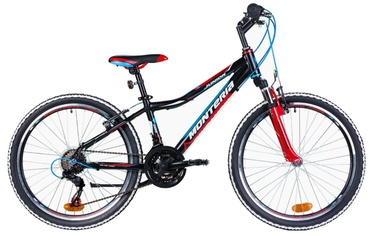 "Jalgratas Monteria Junior 24"" Black Red Blue"