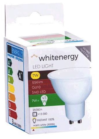 Whitenergy LED Bulb GU10 7W Milky
