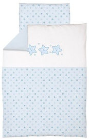 Ceba Baby Bedding Set With Embroideries 2pcs Stars Blue