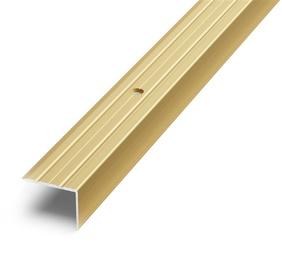 Laiptų kampas D3, aukso, 270 x 2.4 x 1.8 cm