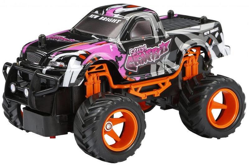 New Bright 1:24 R/C Speedy Graffiti Truck Purple 2408F