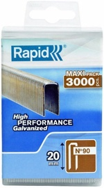 Rapid Narrow Crown 90/20mm Staples 3000pcs