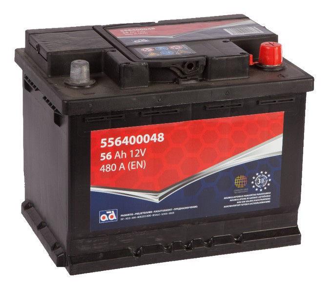 Аккумулятор AD BALTIC 556400048, 12 В, 56 Ач, 480 а