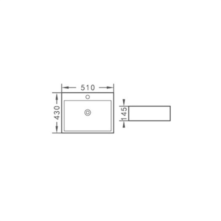 Раковина Aquacubic Sink 51x43x14.5cm White