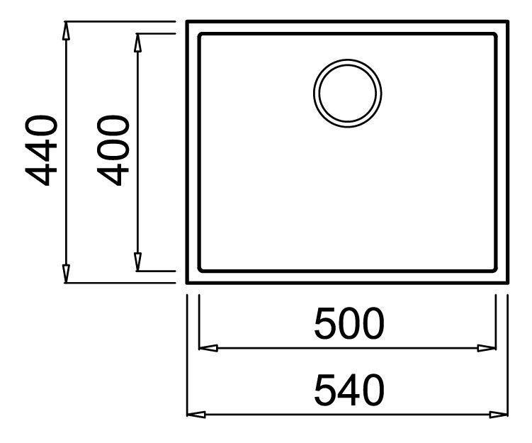 Раковина Teka 50.40 TG White, 540 мм x 440 мм x 200 мм