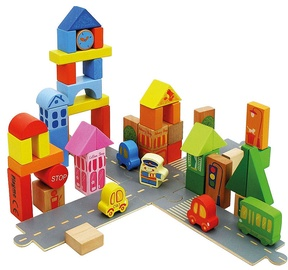Playme Wooden Blocks 55pcs